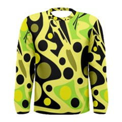 Green Abstract Art Men s Long Sleeve Tee
