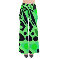 Green Abstract Decor Pants by Valentinaart