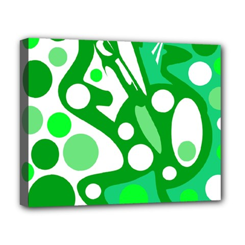 White And Green Decor Deluxe Canvas 20  X 16   by Valentinaart
