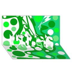 White And Green Decor Hugs 3d Greeting Card (8x4) by Valentinaart