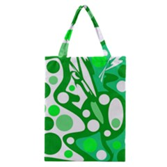 White And Green Decor Classic Tote Bag by Valentinaart