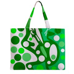 White And Green Decor Zipper Mini Tote Bag by Valentinaart