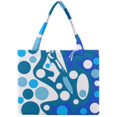 Blue And White Decor Mini Tote Bag by Valentinaart
