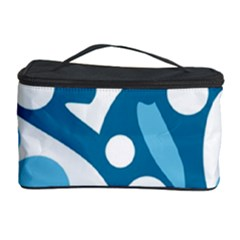 Blue And White Decor Cosmetic Storage Case by Valentinaart