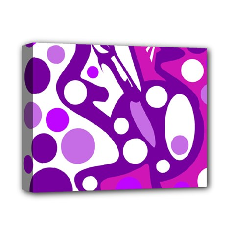 Purple And White Decor Deluxe Canvas 14  X 11  by Valentinaart