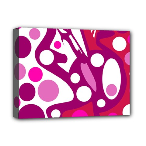 Magenta And White Decor Deluxe Canvas 16  X 12   by Valentinaart