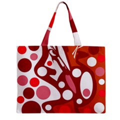 Red And White Decor Zipper Mini Tote Bag by Valentinaart