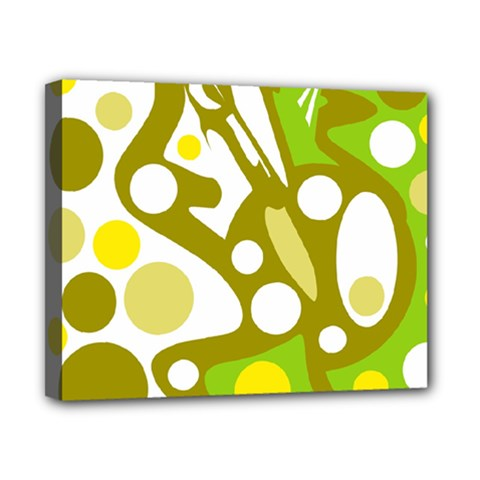Green And Yellow Decor Canvas 10  X 8  by Valentinaart