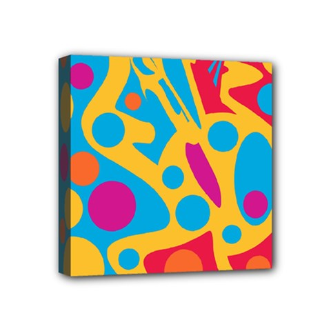 Colorful Decor Mini Canvas 4  X 4  by Valentinaart