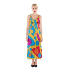 Colorful Decor Sleeveless Maxi Dress by Valentinaart