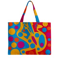 Colorful Decor Zipper Mini Tote Bag by Valentinaart