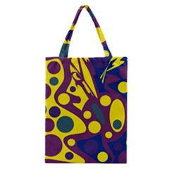Deep Blue And Yellow Decor Classic Tote Bag by Valentinaart