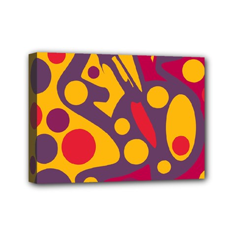 Colorful Chaos Mini Canvas 7  X 5  by Valentinaart