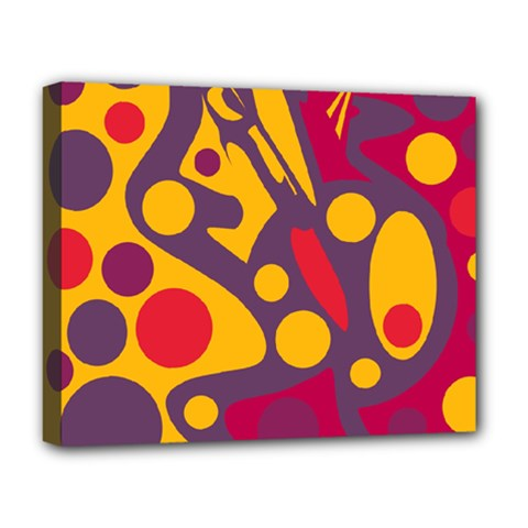Colorful Chaos Deluxe Canvas 20  X 16   by Valentinaart