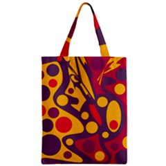 Colorful Chaos Zipper Classic Tote Bag by Valentinaart