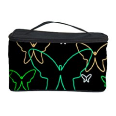 Green Butterflies Cosmetic Storage Case by Valentinaart