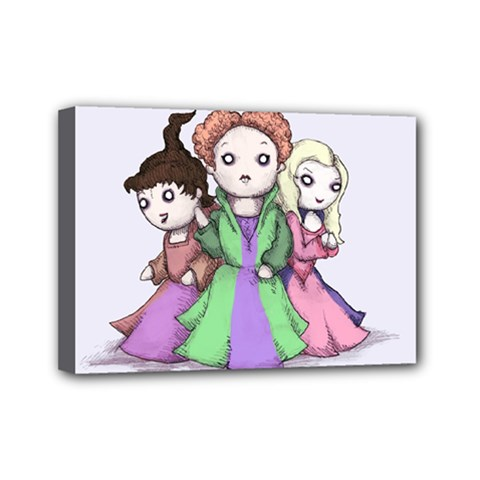 Hocus Pocus Plush Mini Canvas 7  X 5  by lvbart