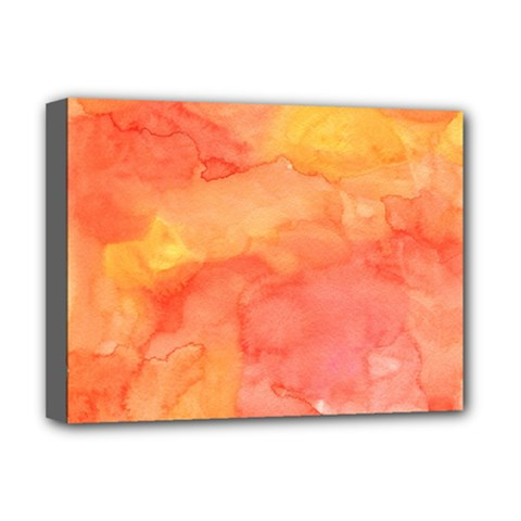 Watercolor Yellow Fall Autumn Real Paint Texture Artists Deluxe Canvas 16  X 12   by CraftyLittleNodes
