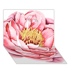 Large Flower Floral Pink Girly Graphic Apple 3d Greeting Card (7x5)