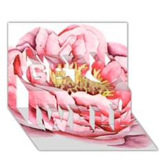 Large Flower Floral Pink Girly Graphic Get Well 3d Greeting Card (7x5) by CraftyLittleNodes