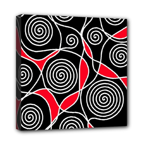 Hypnotic Design Mini Canvas 8  X 8  by Valentinaart