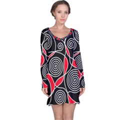 Hypnotic Design Long Sleeve Nightdress by Valentinaart