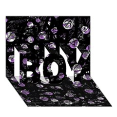 Purple Soul Boy 3d Greeting Card (7x5) by Valentinaart
