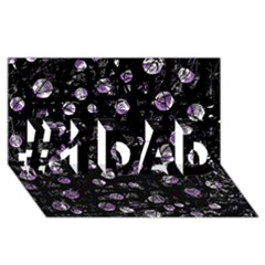 Purple Soul #1 Dad 3d Greeting Card (8x4)