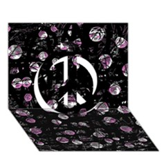 Purple Soul Peace Sign 3d Greeting Card (7x5) by Valentinaart