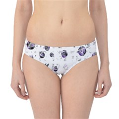 White And Blue Soul Hipster Bikini Bottoms by Valentinaart