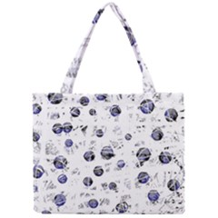 White And Deep Blue Soul Mini Tote Bag by Valentinaart