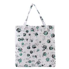 White And Green Soul Grocery Tote Bag by Valentinaart