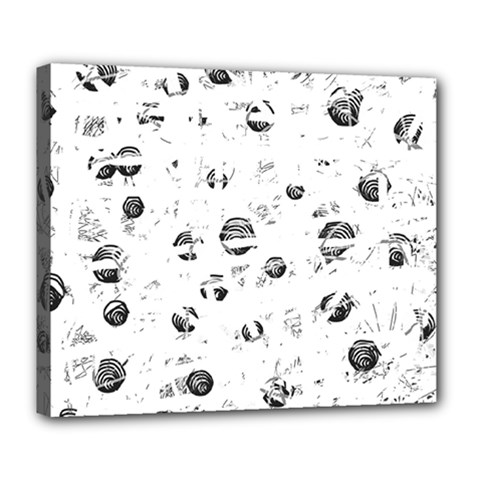 White And Gray Soul Deluxe Canvas 24  X 20   by Valentinaart