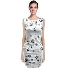 White And Gray Soul Classic Sleeveless Midi Dress by Valentinaart