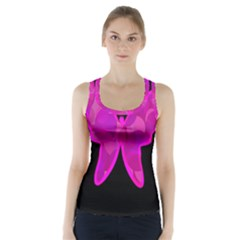 Purple Butterfly Racer Back Sports Top by Valentinaart