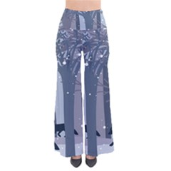 Foxes In The Winter Forest Women s Chic Palazzo Pants