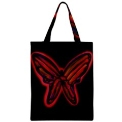 Red Butterfly Classic Tote Bag by Valentinaart