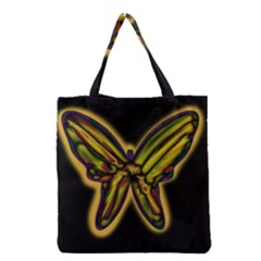 Night Butterfly Grocery Tote Bag by Valentinaart