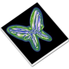 Green Neon Butterfly Small Memo Pads by Valentinaart
