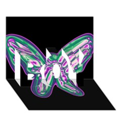 Neon Butterfly Boy 3d Greeting Card (7x5)