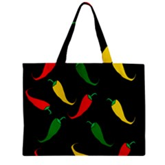 Chili Peppers Zipper Mini Tote Bag by Valentinaart