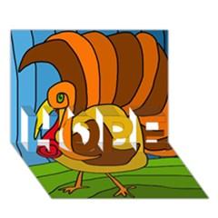 Thanksgiving Turkey  Hope 3d Greeting Card (7x5) by Valentinaart