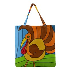 Thanksgiving Turkey  Grocery Tote Bag by Valentinaart
