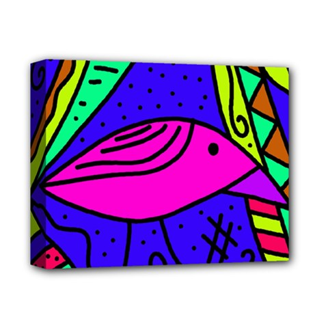 Pink Bird Deluxe Canvas 14  X 11  by Valentinaart