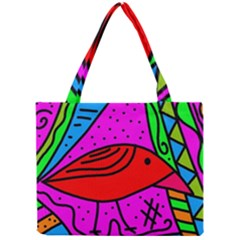 Red Bird Mini Tote Bag by Valentinaart