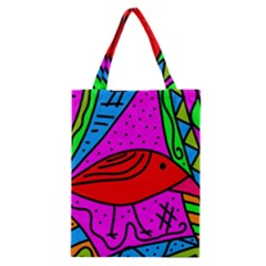 Red Bird Classic Tote Bag by Valentinaart