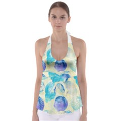 Seashells Babydoll Tankini Top