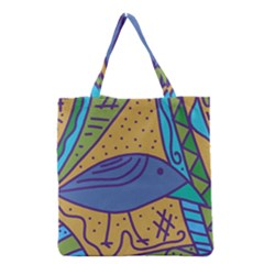 Blue Bird Grocery Tote Bag by Valentinaart