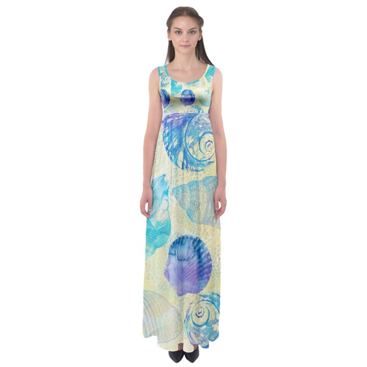 Seashells Empire Waist Maxi Dress