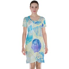 Seashells Short Sleeve Nightdress